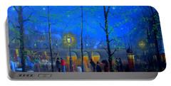 Evening Street Market Paris Portable Battery Charger by Joe Gilronan