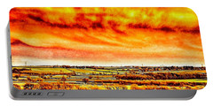 Portable Battery Charger featuring the photograph Evening Sun  by Cliff Norton