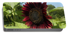 Evening Sun Sunflower #1 Portable Battery Charger by Jeff Severson