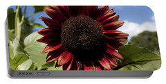 Evening Sun Sunflower #2 Portable Battery Charger by Jeff Severson
