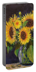 Evening Table Sun Flowers Portable Battery Charger