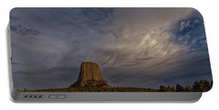 Evening Time At Devils Tower Portable Battery Charger