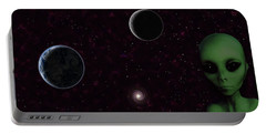 Portable Battery Charger featuring the digital art Ever Wonder What Is Out There by Anthony Murphy