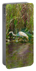 Everglades Hunter Portable Battery Charger by David  Van Hulst