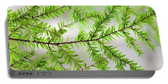 Portable Battery Charger featuring the photograph Evergreen Abstract by Christina Rollo