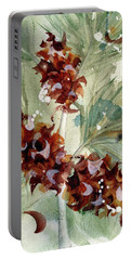 Portable Battery Charger featuring the painting Evergreen Branch by Dawn Derman