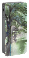 Portable Battery Charger featuring the painting Evergreen by Dawn Derman
