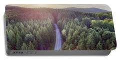 Evergreen Forest From Above Portable Battery Charger