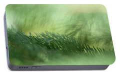 Portable Battery Charger featuring the photograph Evergreen Mist by Ann Lauwers