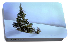 Portable Battery Charger featuring the painting Evergreen Offspring P D P by David Dehner