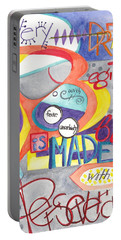 Portable Battery Charger featuring the painting Every Dream Begins by Erin Fickert-Rowland