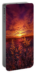 Portable Battery Charger featuring the photograph Every Sound Returns To Silence by Phil Koch