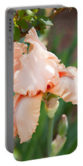 Portable Battery Charger featuring the photograph Everything Is Peachy by Sherry Hallemeier