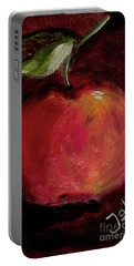 Portable Battery Charger featuring the painting Eve's Apple.. by Jolanta Anna Karolska