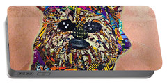 Portable Battery Charger featuring the tapestry - textile Ewok Star Wars Afrofuturist Collection by Apanaki Temitayo M