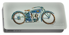 Excelsior Motorcycle Portable Battery Charger by Tamyra Crossley