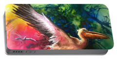 Portable Battery Charger featuring the painting Exhilarated - Original Sold by Therese Alcorn