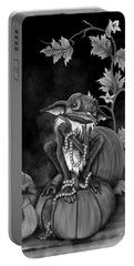 Explain Yourself - Black And White Fantasy Art Portable Battery Charger