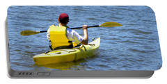 Portable Battery Charger featuring the photograph Exploring In A Kayak by Sandi OReilly