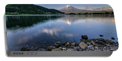 Exploring My Way Along Lake Kawaguchi Shoreline Portable Battery Charger