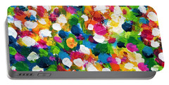 Portable Battery Charger featuring the painting Explosion Of Colors by Cristina Stefan