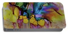 Portable Battery Charger featuring the painting Explosion Of Petals by Joanne Smoley