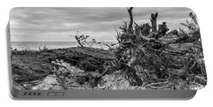 Exposed Roots On Grace Bay Beach Portable Battery Charger