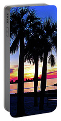 Portable Battery Charger featuring the photograph Expressionalism Beach Sunset by Aimee L Maher Photography and Art Visit ALMGallerydotcom