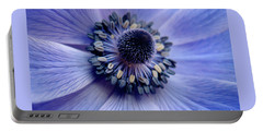 Expressive Blue And Purple Floral Macro Photo 706 Portable Battery Charger