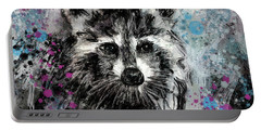 Expressive Raccoon Portable Battery Charger