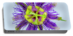 Expressive Yellow Green And Violet Passion Flower 50674b Portable Battery Charger