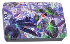 Portable Battery Charger featuring the photograph Extravagant Blue by Rosalie Scanlon