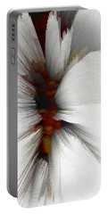 Portable Battery Charger featuring the digital art Sculptural Series Painting 51.072110windblscext1590l10110l by Kris Haas