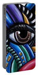 Eye Abstract Art Painting - Intuitive Chromatic Art - Pineal Gland Third Eye Artwork Portable Battery Charger