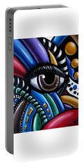 Eye Am - Abstract Art Painting - Intuitive Art - Ai P. Nilson Portable Battery Charger