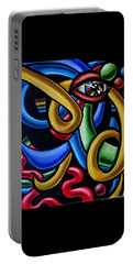 Eye Am The Prize - Chromatic Abstract Art Painting - Print - Ai P. Nilson Portable Battery Charger