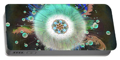Portable Battery Charger featuring the digital art Eye Know Dark Two by Iowan Stone-Flowers