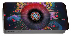 Portable Battery Charger featuring the digital art Eye Know Dark by Iowan Stone-Flowers