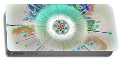Portable Battery Charger featuring the digital art Eye Know Light Two by Iowan Stone-Flowers