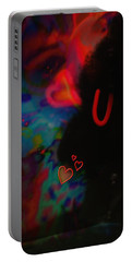 Eye Love U Portable Battery Charger by Kevin Caudill