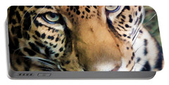 Eye Of The Leopard Portable Battery Charger by Athena Mckinzie