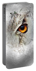 Portable Battery Charger featuring the photograph Eye Of The Owl 2 by Fran Riley