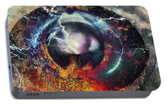 Portable Battery Charger featuring the digital art Eye Of The Storm by Linda Sannuti