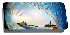 Portable Battery Charger featuring the painting Eye Of The Wave by Sharon Duguay