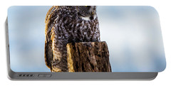 Eye On The Prize - Great Gray Owl Portable Battery Charger
