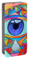 Eye With Silver Tear Portable Battery Charger