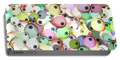 Portable Battery Charger featuring the digital art Eyeballs by Methune Hively