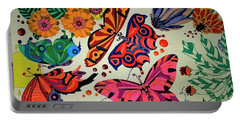 Eyes Of The Butterflies Portable Battery Charger