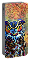 Eyes Of Wisdom Portable Battery Charger by Geri Glavis