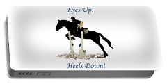 Eyes Up, Heels Down Horse Portable Battery Charger by Patricia Barmatz